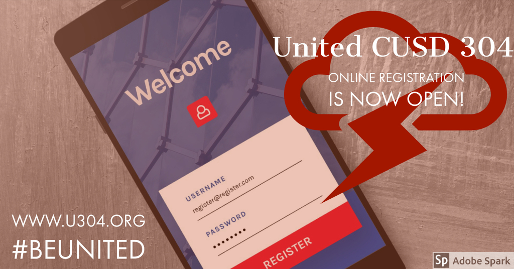 United 304 ONLINE REGISTRATION #BeUnited