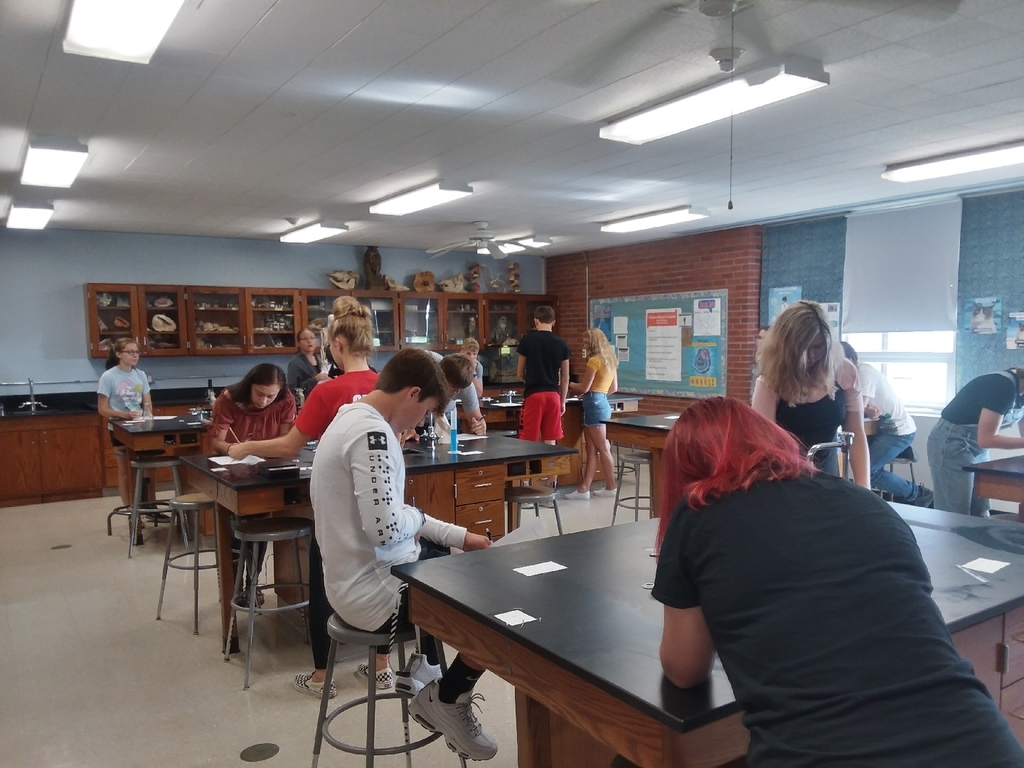 Our scientists in Mrs. Menge's Biology 2 class.
