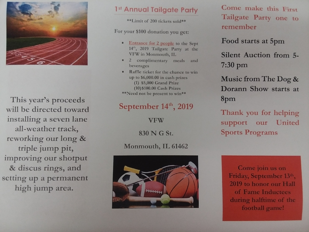 Tailgate Party September 14
